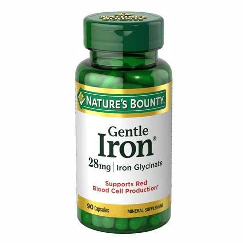 Buy Nature's Bounty Gentle Iron Supplement for Red Blood Cell Support online used to treat Iron Deficiency Treatment - Medical Conditions