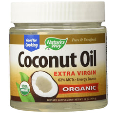 Buy Nature's Way Coconut Oil Extra Virgin Organic Supplement, 16 oz online used to treat Dietary Supplement - Medical Conditions