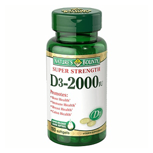 Buy Nature's Bounty Super Strength D3-2000 Vitamin online used to treat Vitamins, Minerals & Supplements - Medical Conditions