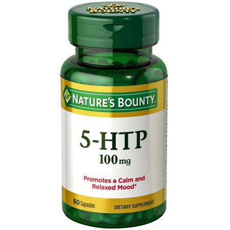 Nature's Bounty 5-HTP Calm Relaxed Mood Supplement 100mg, Capsules