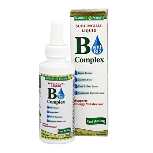 Buy Vitamin B Complex Sublingual Liquid by Nature's Bounty online used to treat Vitamin B Complex Supplement - Medical Conditions