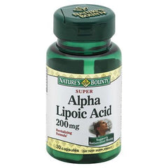 Buy Natures Bounty Alpha Lipoic Acid 200mg online used to treat Skin Health - Medical Conditions