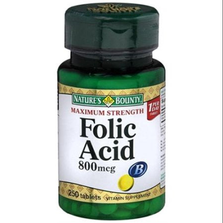 Natures Bounty Folic Acid 800mcg Tablets