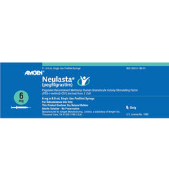 Buy Neulasta (pegfilgrastim) Shot 6 mg Syringe online used to treat Anti-Infection Treatment Drug - Medical Conditions