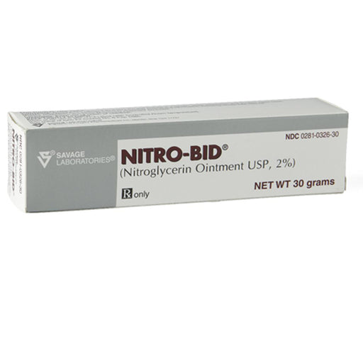 Buy Nitro-Bid Ointment 2% Tube, 30 gram online used to treat Coronary Artery Disease Medicine - Medical Conditions