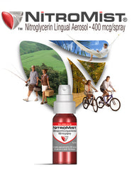 Buy NitroMist Spray 400 mcg with 90 Metered Doses online used to treat Heart Attack Emergency Spray - Medical Conditions