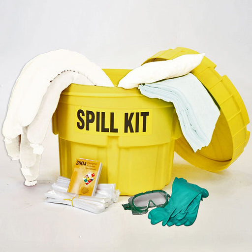 Oil Spill Control Absorbent Clean Up Kit with 17 Gallon Bucket - Spill Cleanup Kit - Mountainside Medical Equipment