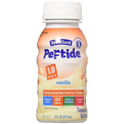PediaSure Peptide 1.0 Cal 8 oz- Case of 24 - Nutritional Products - Mountainside Medical Equipment