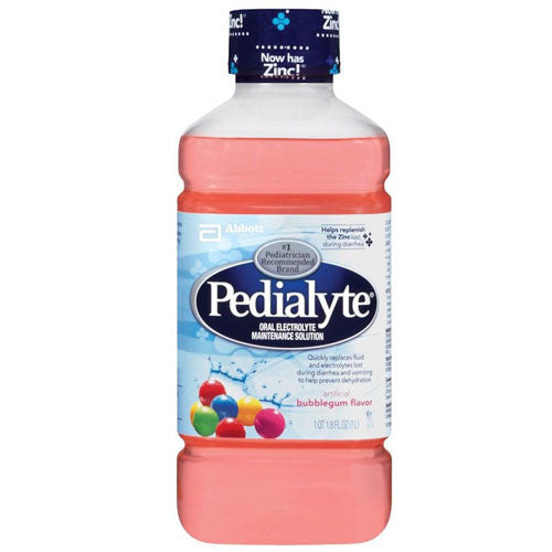 Pedialyte Bubblegum Pediatric Electrolyte Replenishment Drink, 8/Case