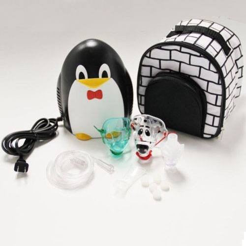 Penguin Pediatric Nebulizer Machine with Neb Kit, Mouthpiece, Mask Tubing and Carry Bag - Nebulizer Machines - Mountainside Medical Equipment