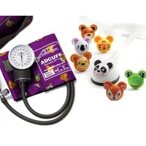 Adimals Pediatric Stethoscope, Thermometer & Blood Pressure Kit - Pediatric Stethoscope - Mountainside Medical Equipment