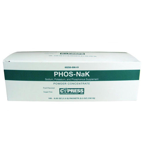 Phos-Nak Powder to Prevent Kidney Stones, 100 Packets