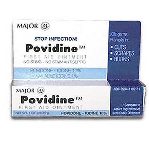 Povidone Iodine Ointment 10% - First Aid Antiseptic - Mountainside Medical Equipment