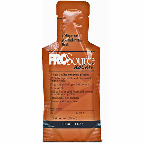 ProSource NoCarb Protein Supplement, 1 oz Bottles, Unflavored 100/Case