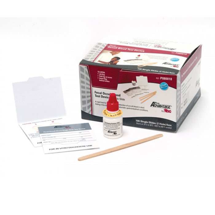 Fecal Occult Blood Stool Test Kit (Guaiac Slides) - Fecal Occult Stool Tests - Mountainside Medical Equipment