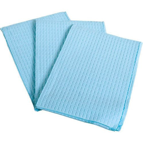 "Professional Towels 2 Ply, Tissue/Poly, Blue, Rib Embossed, 13"" x 18"", 500/cs"