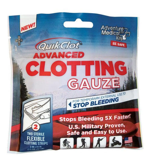 "QuikClot Advanced Stop Bleeding Fast Emergency Sponge 3"" x 24"""