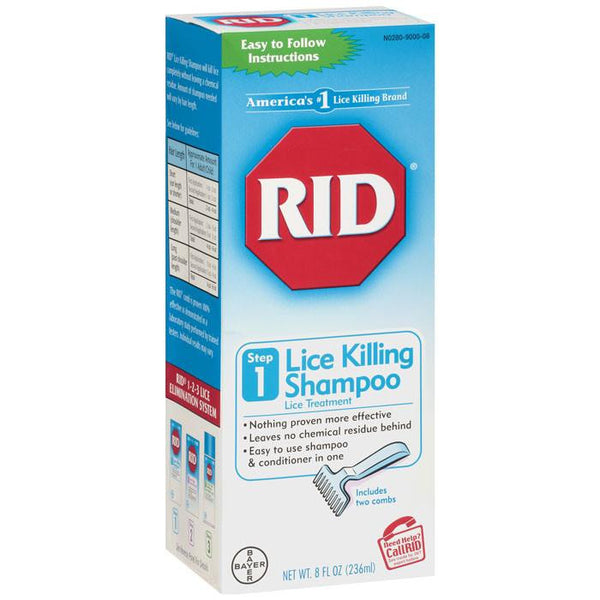 RID Lice Killing Shampoo with Metal Hair Comb