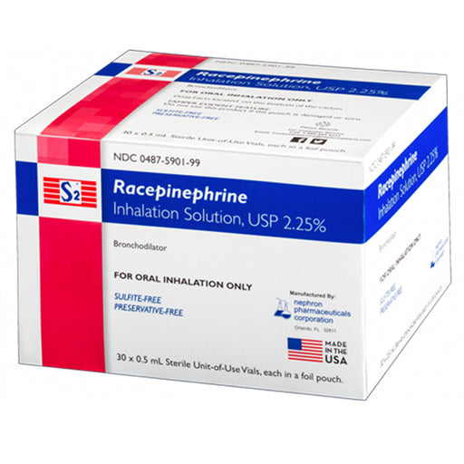 Racepinephrine (Asthmanefrin) for Inhalation Solution 2.25%, 30/Box - Asthma Medication - Mountainside Medical Equipment