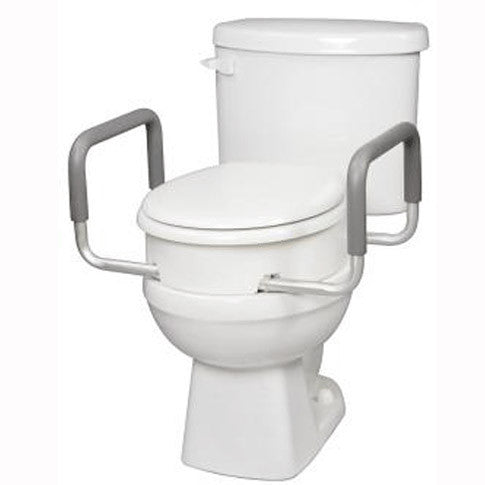 Buy Carex Toilet Seat Elevator with Handles for Elongated Toilets online used to treat Raised Toilet Seats - Medical Conditions