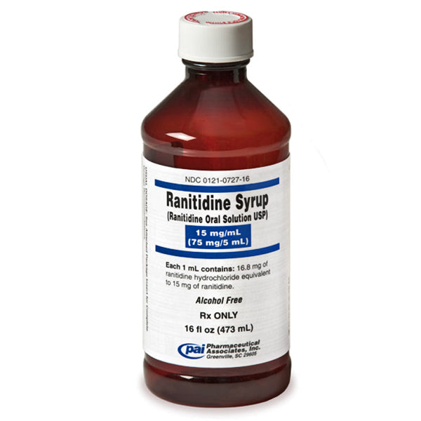 Ranitidine (Zantac) Liquid Syrup 15mg/ml Oral Solution