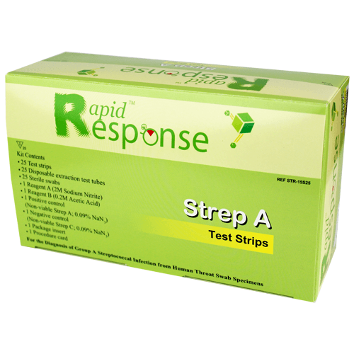 Rapid Response Strep A Testing Kit 25/Box (CLIA Waived) - Strep A Tests - Mountainside Medical Equipment