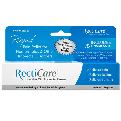 Buy Recticare Anorectal Rectal Pain Relief Cream online used to treat Hemorrhoid Relief - Medical Conditions