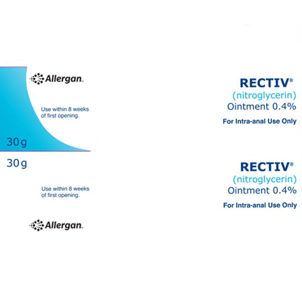 Buy Rectiv Ointment 0.4% for Anal Fissure Pain Relief online used to treat Anal Fissure Relief Medicine - Medical Conditions