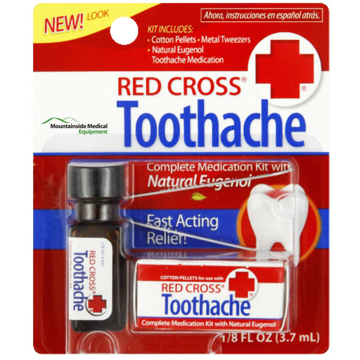 Red Cross Toothache Kit - Oral Pain Relief - Mountainside Medical Equipment