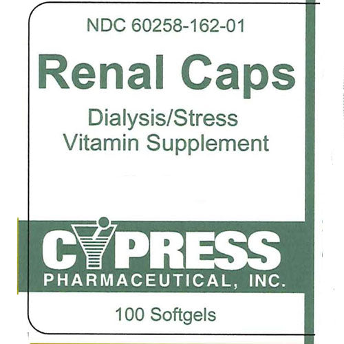 Renal Multivitamin Supplement Caplets for Dialysis Health
