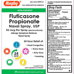 Buy Rugby Fluticasone Propionate Nasal Spray (Generic Flonase) online used to treat Allergy Relief Nasal Spray - Medical Conditions