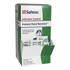 Buy Safetec Instant Hand Sanitizer Packets with Aloe, 144/Box by Safetec from a SDVOSB | Hand Sanitizers