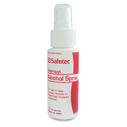 Safetec First Aid Isopropyl Alcohol Antispetic Spray - First Aid Antiseptic - Mountainside Medical Equipment