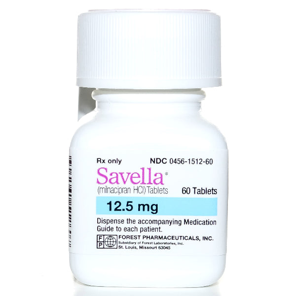 Buy Savella Tablets 12.5 mg online used to treat Nerve Pain Medication and Antidepressant - Medical Conditions
