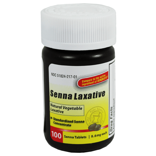 Senna Vegetable Laxative Tablets - Over the Counter Drugs - Mountainside Medical Equipment
