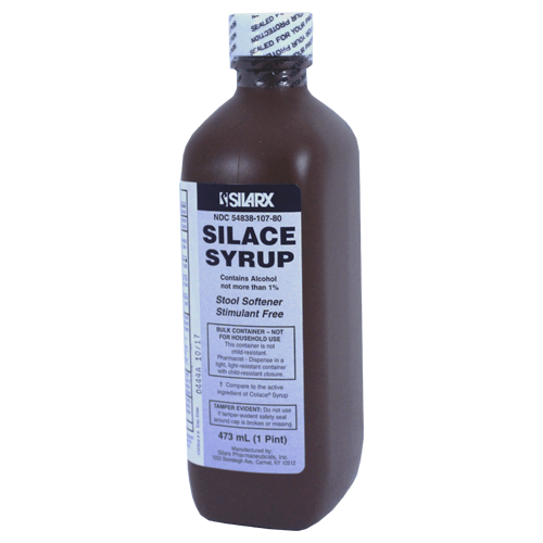 Buy Silace Syrup Stimulant Free Stool Softener online used to treat Laxatives - Medical Conditions