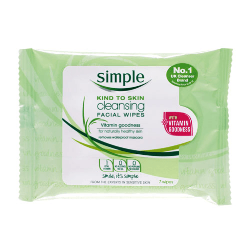 Simple Sensitive Skin Facial Cleansing Wipes