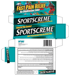 Buy Sportscreme Muscle Pain Relief Rubbing Cream online used to treat Exercise and Fitness - Medical Conditions
