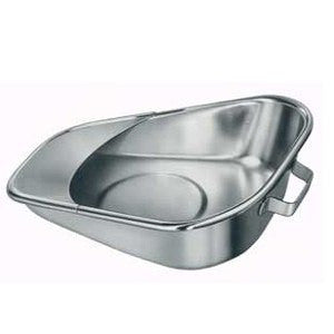 Stainless Steel Fracture Bedpan for Bed Pans and Urinals by Tech-Med Services | Medical Supplies