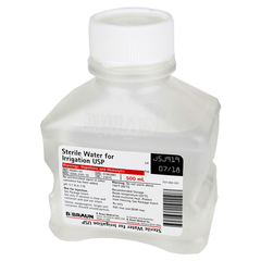 Buy Sterile Water for Irrigation 500ml Bottle, Distilled used for Irrigation Solution by B Braun