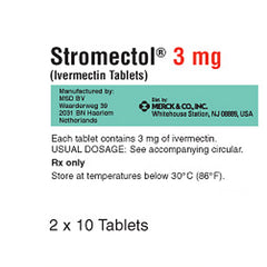 Stromectol 3 mg Tablets