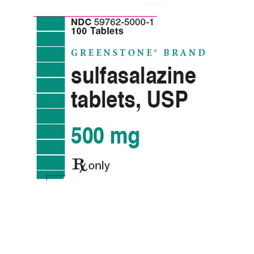 Buy Sulfasalazine Tablets 500 mg Greenstone, 100 Count online used to treat Ulcerative Colitis Treatment - Medical Conditions