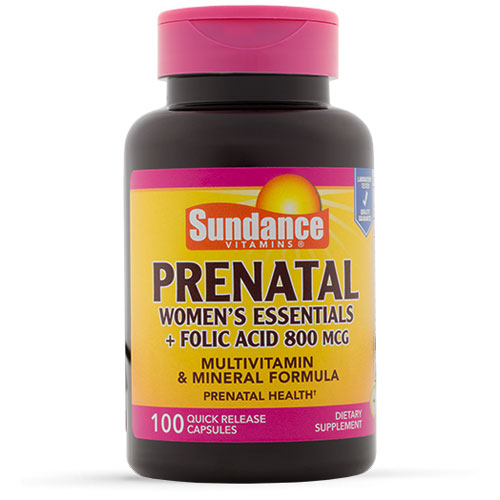 Buy Sundance Womens Prenatal Multivitamins with Folic Acid 800mg online used to treat Prenatal Multivitamin - Medical Conditions