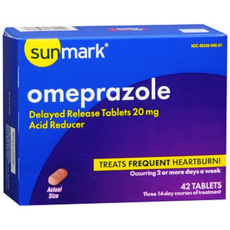 Omeprazole 20 mg Acid Reducer 42 Tablets - Heartburn Relief Medicine - Mountainside Medical Equipment