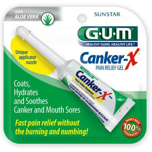 Sunstar Gum Canker-X Pain Relief Gel with Aloe