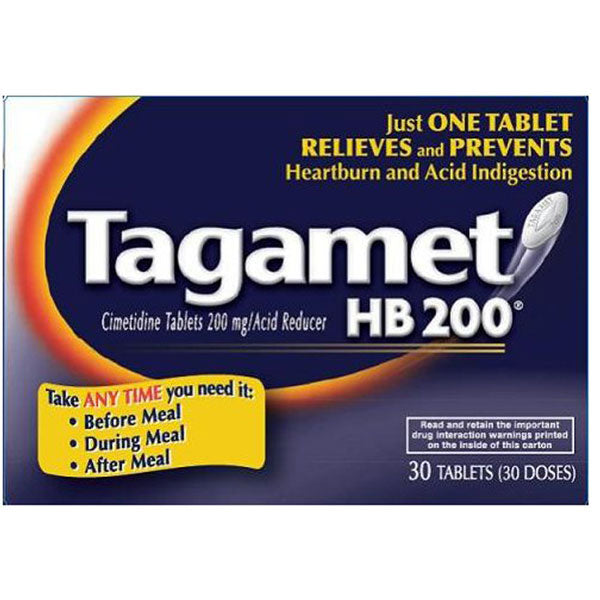 Tagamet Heart Burn Relief 200 mg Tablets, 30/Box