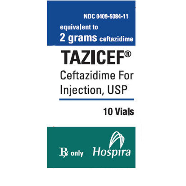 Tazicef (Ceftazidime Injection), 2 Gram, 10 Vials