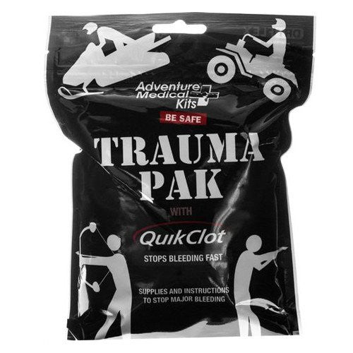 Outdoors Trauma Emergency Pack with QuikClot Stop Bleeding Sponge - First Aid Supplies - Mountainside Medical Equipment