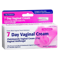 Buy 7-Day Clotrimazole Vaginal Antifungal Cream 1% online used to treat Vaginal Antifungal Medication - Medical Conditions