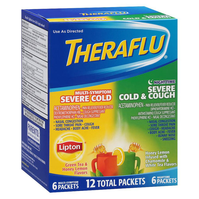 Theraflu Daytime and Nightime Serve Cold & Cough Relief Medicine, Combo Pack
